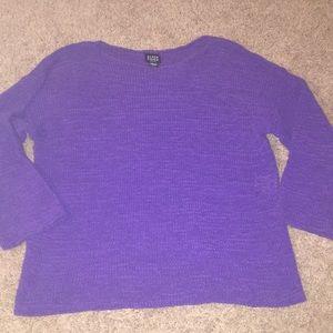 Eileen fisher purple petite large sweater